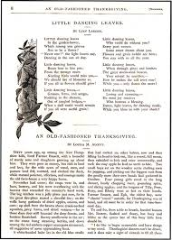 an fashioned thanksgiving louisa may alcott fashioned thanksgiving in st nicholas magazine louisa may