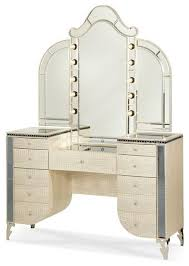 Makeup Vanity With Chair Aico Hollywood Swank Vanity With Bench Set 3 Piece By Michael Am
