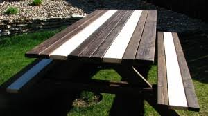 Build A Picnic Table by Our New Diy Picnic Table