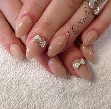 sweet and simple taupe tan solid acrylic nails almond