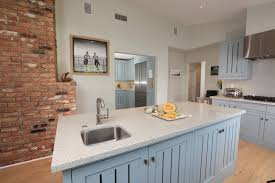 Transitional Kitchen Ideas Kitchen Astounding Design Brick Wall Including Light Grey Wood