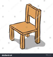 Wooden Chair Brown Wooden Chair Cartoon Vector Illustration Stock Vector