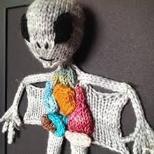 aknitomy knitted alien autopsy noveltystreet