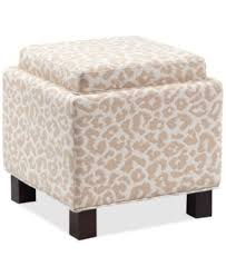 jla kylee sand fabric accent storage ottoman with pillows direct