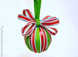 ribbon wrapped ornament the ribbon retreat