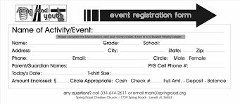 templates for word application registration form template