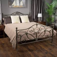 wrought iron king bed frame pertaining to home bedroom