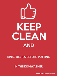 Rinse Dishwasher Keep Clean And Rinse Dishes Before Putting In The Dishwasher
