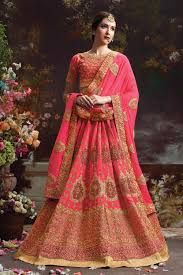 lengha choli for engagement ring ceremony lenghas online usa pink embroidered indian lengha