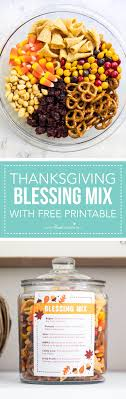 easy thanksgiving blessing mix with free printable i naptime