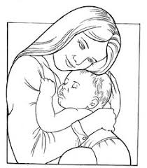 mother and baby clipart face pencil and in color mother and baby