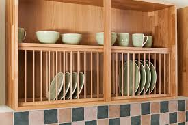 Under Cabinet Dish Rack Awesome Wooden Kitchen Plate Rack Cabinet Cabinets Solid Wood Oak