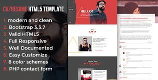 Html5 Resume Modern Cv Resume Html5 Template By Themectg Themeforest