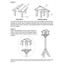 Plans For Making A Garden Table by How To Make A Bird Table Plans Bird Feeders Pinterest Table