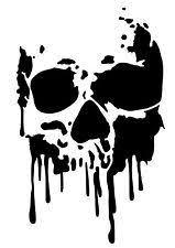 high detail skull airbrush stencil free uk postage my