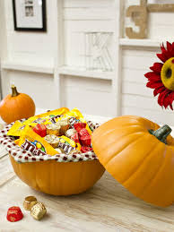 Halloween Candy Jar Ideas by How To Make A Pumpkin Candy Dish Hgtv