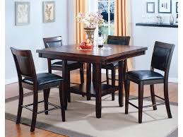 Counter Height Upholstered Chairs Crown Mark Fulton 5 Pc Counter Height Table With Lazy Susan And
