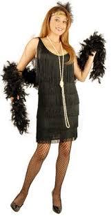 plus size black flapper costume