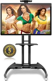 universal mobile tv cart tv stand with mount for 37 u0027 u0027 60 inch