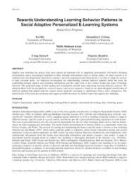 towards understanding learning behavior patterns in social