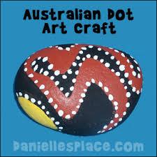 australian dot art craft for kids great for australian unit study