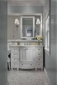 Bow Front Vanity Gray Beadboard Traditional Bathroom Cottage Company Interiors