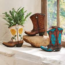 Cowboy Boot Planter by Cowboy Boot Vases