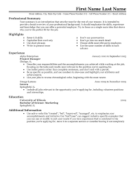 Professional Summary On Resume Examples by Free Resume Templates 20 Best Templates For All Jobseekers