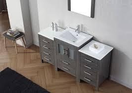 Bathroom Vanities Usa by Virtu Usa 60 Inch Dior Bathroom Vanity Zebra Grey