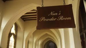 Powder Room Sign Seeking Weekend Sanctuary At Stanbrook Abbeyoffice Breaks