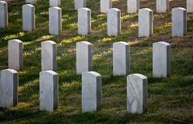 cemetery stones row of grave stones in arlington