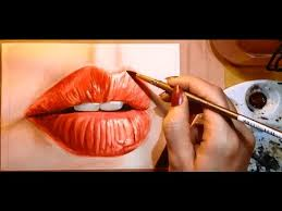how to paint a realistic mouth lips watercolor portrait