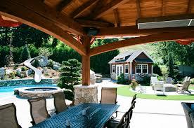jackson timber frame pavilion in backyard oasis the barn yard