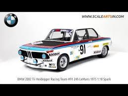 bmw 2002 model car bmw 2002 tii heidegger racing team 91 24h lemans 1975 1 18 spark