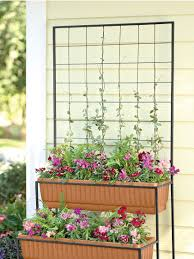 trellis planter two tier self watering planter gardener u0027s supply