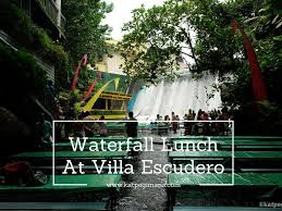 waterfall lunch at villa escudero kat pegi mana where is kat going