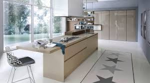 contemporary kitchen laminate island system collection pedini