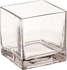 Square Glass Vases Cheap Amazon Com Candles4less Bulk 6 Pieces 6 Inch Clear Glass Square