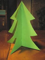 a 3d tree made from card stock