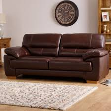 2 Seater Sofa Leather by Clayton 2 Seater Sofa In Brown Leather Oak Furniture Land