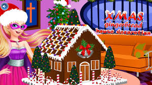 free christmas gingerbread house barbie games for girls youtube