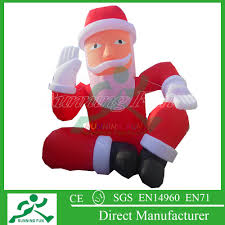 inflatable western christmas decorations santa inflatable western