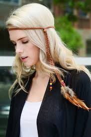 boho headbands bohemian feather headband necklace