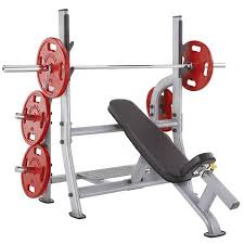 Weight Bench With Spotter Steelflex Olympic Free Weight Incline Bench U0026 Spotter Stand Noib