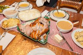 Thanksgiving Traditional Meal The Majority Of The Dishes In The Traditional American Version