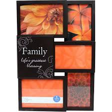 walmart thanksgiving open mainstays 5 opening family collage picture frame brown walmart com