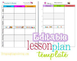 Weekly Lesson Plan Template Common by Lesson Plan Template Common Lesson Plan Template Free