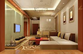 interior oriental asian living room with decorative ceiling