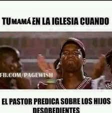 Cristo Meme - memes cristianos tu mamá en la iglesia cuando el pastor predica