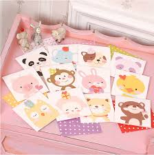 animal mini greeting cards for children handmade small